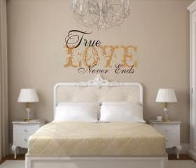 Wall Decal True Love Never Ends Vinyl Wall Decal 22160