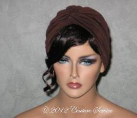 Handmade Twist Fashion Turban -Dark Brown