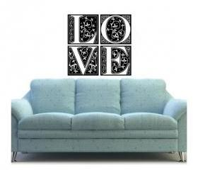 Love Ornate Tiles Vinyl Wall Decal 22034