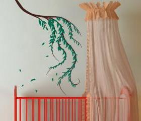 Weeping Willow Branch Vinyl Wall Decal 22088