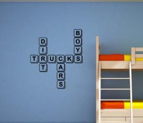 Boys Scrabble Tile Vinyl Wall Decal 22153