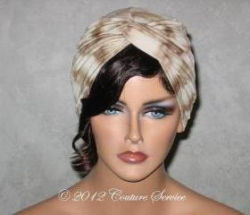 Handmade Twist Fashion Turban -Tan Tie Dyed