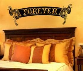 Forever Ornate Scroll Vinyl Wall Decal 22156