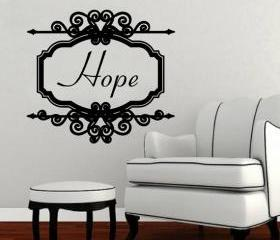 Hope Vintage Look Sign Frame Vinyl Wall Decal 22198