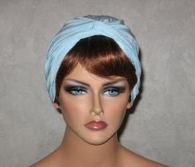 Handmade Twist Fashion Turban -Powder Blue Roma