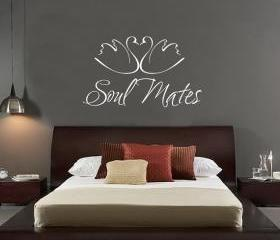 Soul Mates with Swans Vinyl Wall Decal 22146