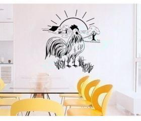 Rooster and Farm Vinyl Wall Decal 22151
