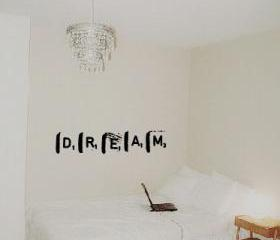 Dream Grunge Scrabble Tile Vinyl Wall Decal 22142