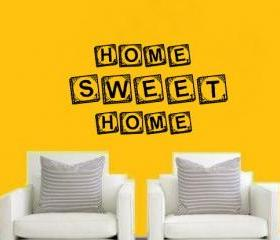 Home Sweet Home Scrabble Tile Vinyl Wall Decal 22143
