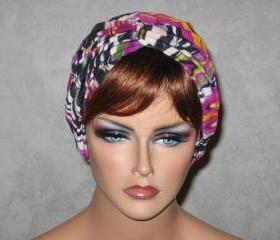 Handmade Twist Fashion Turban -Moss Green and Magenta Multicolored Frequency