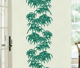 Tall Bamboo Leaves Vinyl Wall Decal 22090