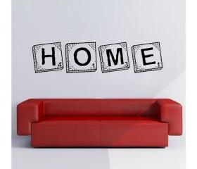 Wall Decal Home Scrabble Tiles Vinyl Wall Graphic 22105