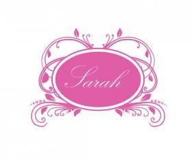 "Custom Personalized Baby Nursery Script Name Vinyl Wall Decal Elegant Vintage Frame 1 30""Wx21""H 22178"