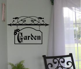 Garden Sign Vinyl Wall Decal 22128