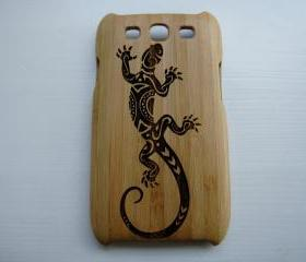 Samsung Galaxy S3 case - wooden cases walnut / cherry or bamboo - Lizard