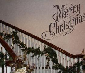 Wall Decal Merry Christmas Removable Vinyl Wall Decal 22117