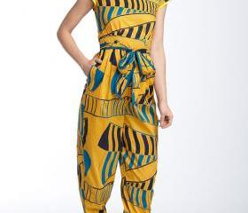 Madagascar - Gorgeous costumisable dashiki african jumpsuit