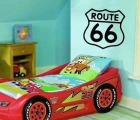Wall Decal Route 66 Retro Road Sign Vinyl Wall Decal 22166