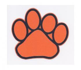 Die Cut Paw Print Custom Scrapbook Embellishment 14334