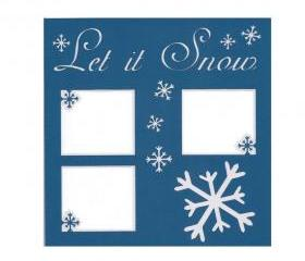 Let it Snow 12x12 Die Cut Double Layer Scrapbook Page Layout 5002