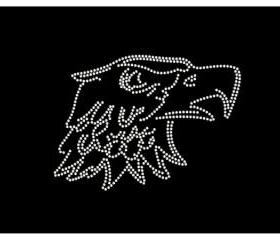 Rhinestone Eagle Head Iron On Transfer 34009