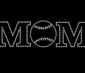 Mom Baseball Rhinestone Transfer 34040