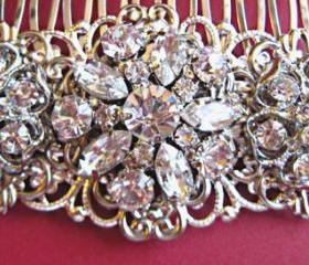 Wedding hair comb, bridal accessories, Crystal Hair Comb, Vintage Style Hair Piece, Blooming Collection