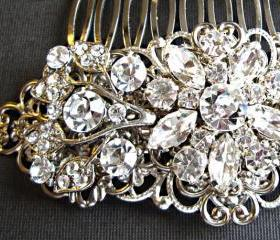 Wedding Hair Comb- Bridal comb, crystal comb, crystal and silver, hair piece, Ivy Rose Collection