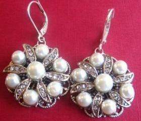 Wedding Jewelry, Pear Earrings, Glamorous