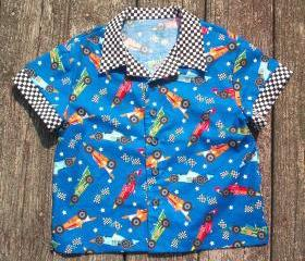 Boys race car shirt Size 5 to 6