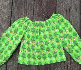 Girls holiday peasant top Size 3