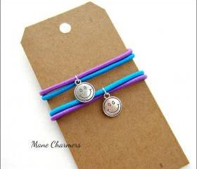 Mane Charmers - Happy Face - Set of 2 - Elastic Hair Ties 