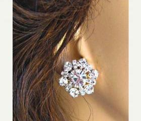 Wedding Earrings, Post Stud Earrings,Diamond Sparkle