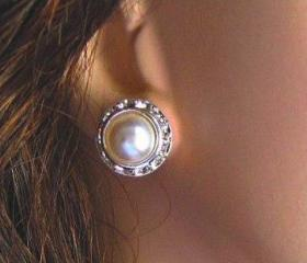 Wedding Earrings, Pearl Earrings,&quot;Radiant&quot; collection, Holiday Party Jewelry, Gift for her, Christmas stocking