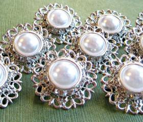 "Set of 9 Wedding Broochs, Wedding Cake, Sash, Bridesmaids,Radiant"" Collection,"