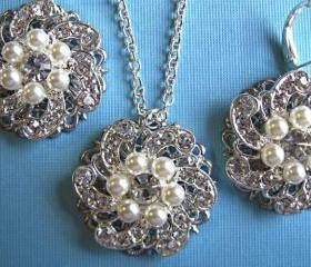 Weddings, Necklace and Earring Set, Bridal Jewelry