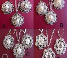 Bridesmaid Jewelry, 8 choices , Multiple Order Discounts, Necklace and Earring Sets, Bridesmaids Gifts, Gifts for Wedding P