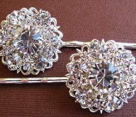 Wedding Hair Pins, Bridal Accessories, Silver and Crystal, Bridal Hair Accessories Diamond Sparkle Collection