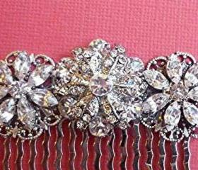 Brilliant Crystal Ice Vintage Style Silver Sparkle bridal Barrette