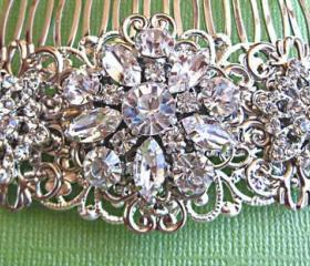 Wedding hair comb,bridal hair accessories, Vintage Style Hair Accessory,&quot;Floral Ice&quot; Collection