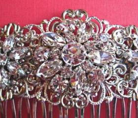 Wedding Hair Comb -Crystal Flowers- Crystal Hair accessories- Flowers- Brida Hair Accessory- Vintage Style Hair Piece