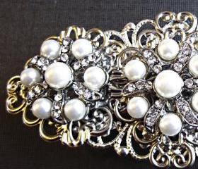Wedding Hair Barrette - Pearl Accessory- Radiant
