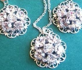Wedding Jewelry, Necklace, Earrings, Brilliant