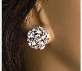 Wedding Earrings, stud Earrings, &quot;Brilliant Sparkle&quot;