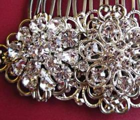 "Wedding hair comb,bridal hair accessories, Crystal comb, Vintage Style Comb,""Vintage Romance"""