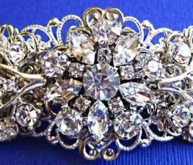 Wedding Hair Barrette- Ivy Rose - Bridal Accessory