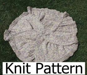 Knitting Pattern - Baby Blanket Pattern - round star easy