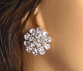 Wedding Earrings, Stud Earrings, &quot;Vintage Romance&quot;