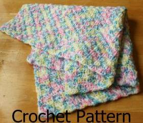Crochet baby blanket pattern Simple shell pattern easy