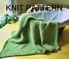 Knit Pattern - Baby Blanket pattern - easy warm cable border